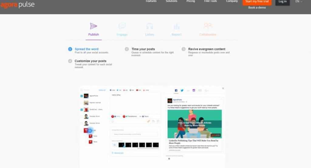 Agora Pulse - Best Automation For Social Media Tool