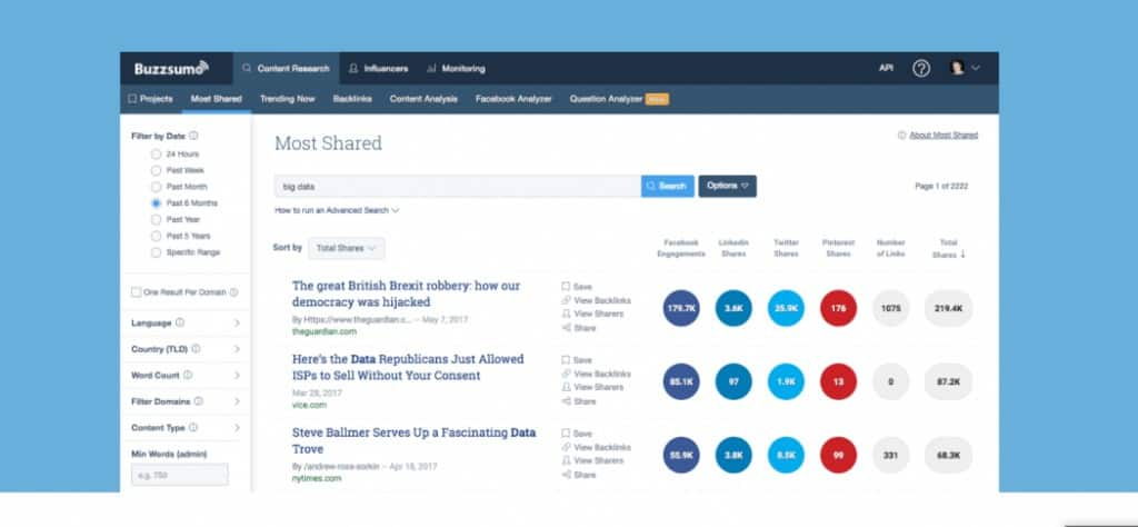 BuzzSumo - Best Automation For Social Media Tool