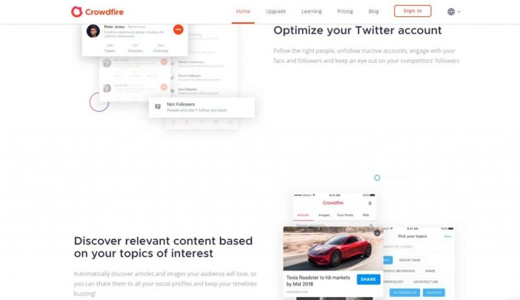 Crowdfire - Best Automation For Social Media Tool