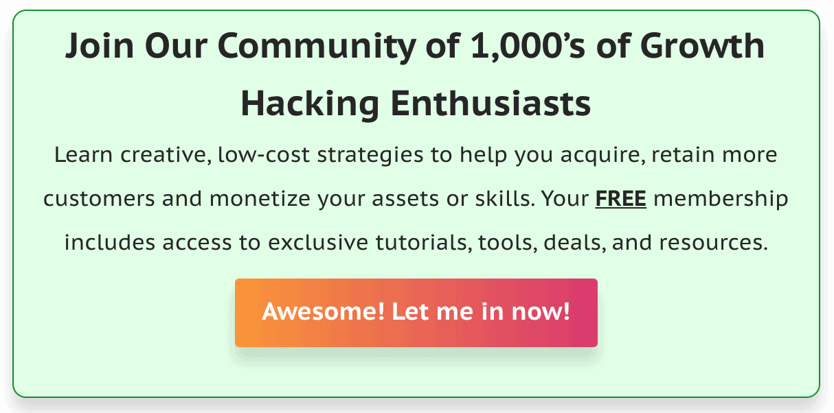 Example of Growth Hacking Community Newsletter