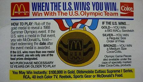 McDonald's Olympic Giveaway