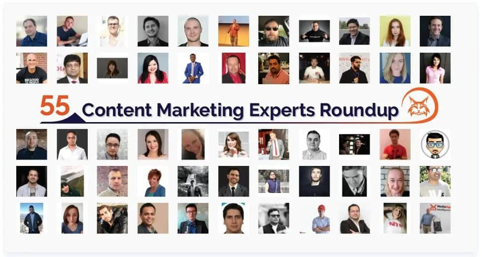 Expert Roundup Example: 55 Content Marketing Experts Roundup