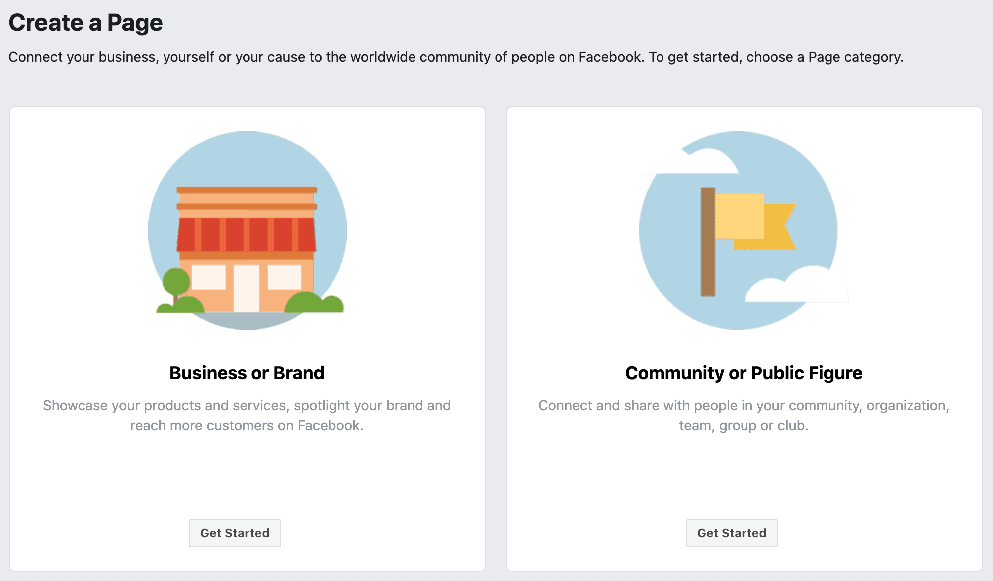 Facebook: Start creating a page for your business