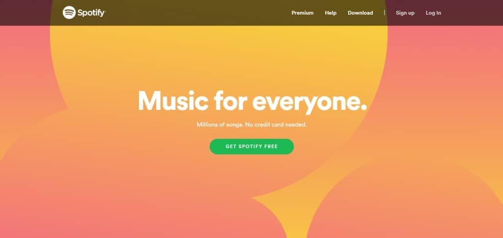 Example of a good CTA - Spotify